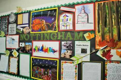 Hempshill Hall - Nottingham Notice Board Display